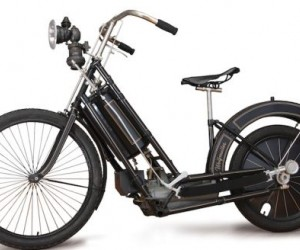 The bike is truly special since it was the first powered two-wheeler to enter series