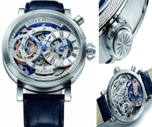 �Blue Sensation� chronograph based on a historic 1889 Patek Philippe for Tiffany move...