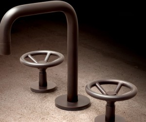 A real treat for modern urban dwellers, these industrial-chic faucets by Brooklyn-bas...