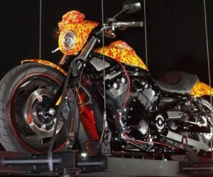 On October 21, 2010, artist Jack Armstrong's million-dollar Cosmic Starship Harley