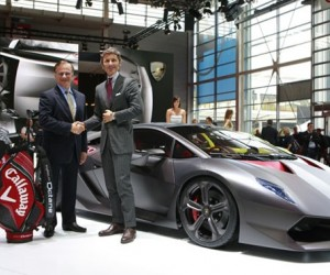 he partnership between Lamborghini and Callaway Golf was announced in Paris, where th...