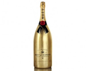 Ready for Christmas, Moet has released a limited edition gold leaf jeroboam bottle of...