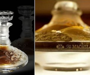 a 64-year-old Macallan single-malt whisky bottled in a unique Lalique crystal decante...