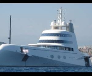 Designed by Phillip Starck, this yachts, known simply as 'A' carries a pricetag of $3...