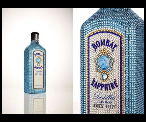 Bacardi is offering travellers at Sydney Airport the chance to buy one of only four Bombay Sapphire bottles hand-decorated with thousands of Swarovski crystals.