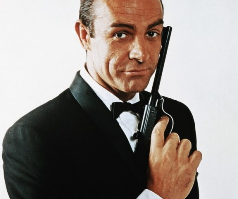A Walther pistol wielded by Sean Connery as James Bond in the photo shoot ...