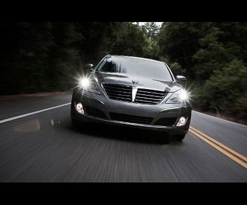 The Korean Presidents specially built, 2011 Hyundai Equus: the specially armored presidential ride can supposedly withstand a blast from 15 kilograms of TNT