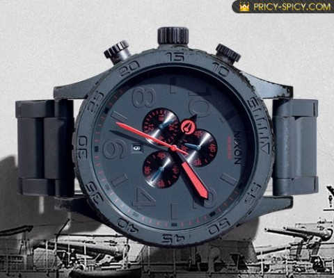 Nixon, California watchmaker showcases the Gunship watch edition.