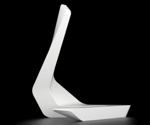 The high-end French designer, Ora-Ito has created a sculpture-cum-seat using the Hi-Macs solid surface for the upcoming 100% Design exhibition in London.
