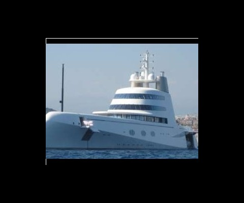 Designed by Phillip Starck, this yachts, known simply as 'A' carries a pricetag of $350 Million, and features 3 pools, 2 discoteques, a helipad, and a gas tank that costs $1.4 Million to fill!
